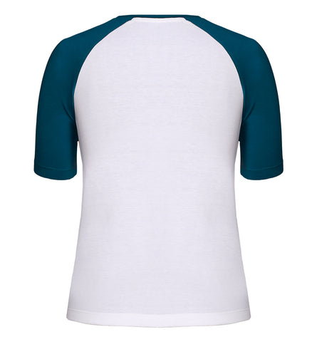White Raglan Sleeves T-shirt