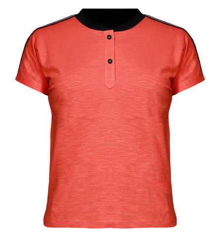 Bomber Neck Polo T-shirt