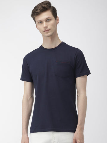 Navy Solid T-Shirts