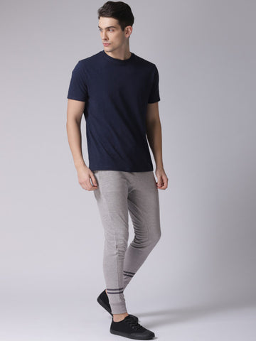 Men Grey Melange Joggers