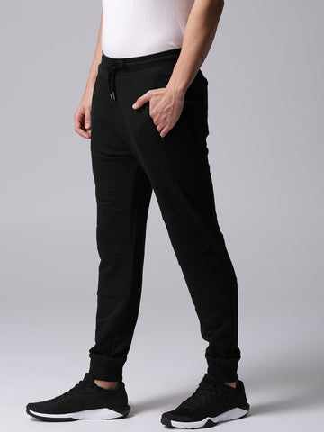 Men Black Solid Joggers