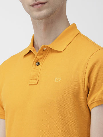 Mustard Green Solid Polo