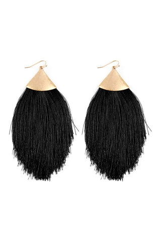 Oversized Tassel Drop Earrings