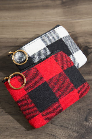 Buffalo Checkered Coin Pouch