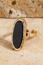Load image into Gallery viewer, Natural Stone Oval Ring