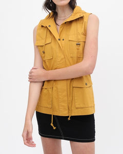 Lightweight Hooded Vest (Mustard)