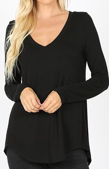 Long Sleeve V-Neck Tee