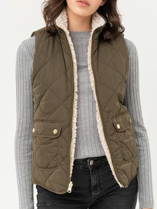 Reversible Quilted Vest