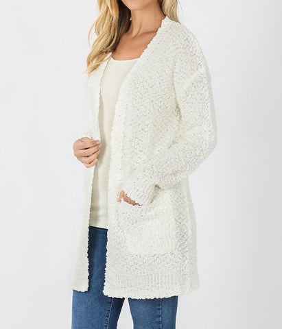 Long Sleeve Popcorn Cardigan