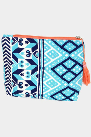Multi Pattern Cosmetic Bag (Turquois)