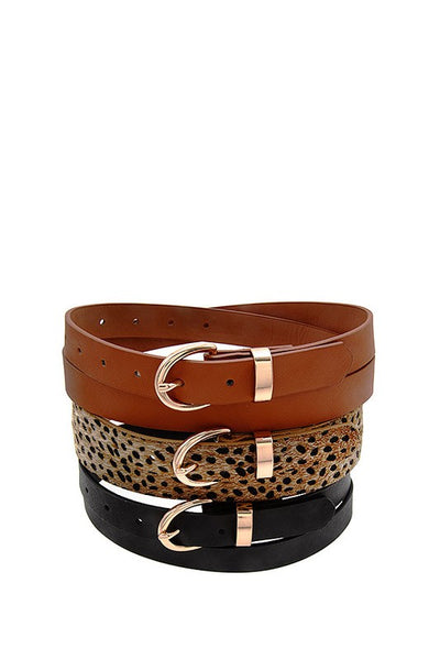 Faux Leather Fashion Belt