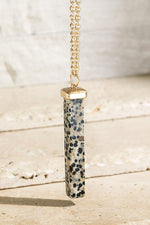 Load image into Gallery viewer, Natural Stone Bar Necklace