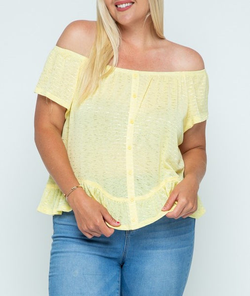 Ruffle Off Shoulder Blouse