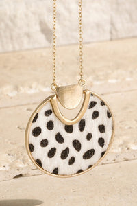 Animal Faux Fur Pendant Necklace