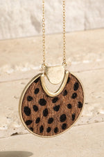 Load image into Gallery viewer, Animal Faux Fur Pendant Necklace