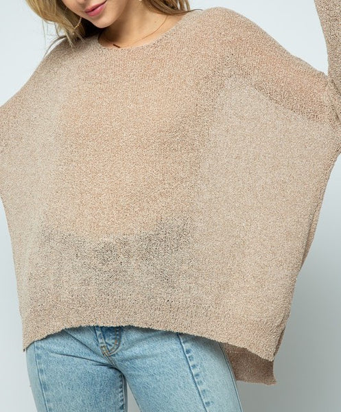 Light Knit Pullover Sweater