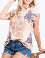 Load image into Gallery viewer, Tie Dye Cap Sleeve Top