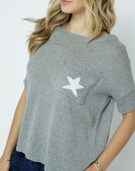 Pullover Sweater with Star Detail