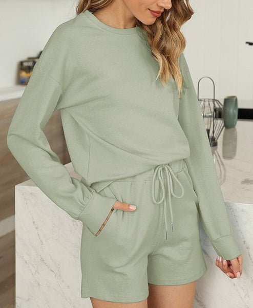 Long Sleeve Two Piece Lounge Set