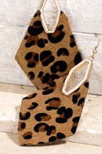 Load image into Gallery viewer, Leather Animal Print Earrings