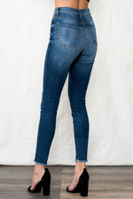 Load image into Gallery viewer, High Rise Skinny with Fray Hem