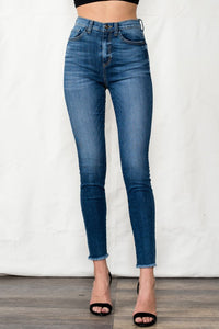 High Rise Skinny with Fray Hem