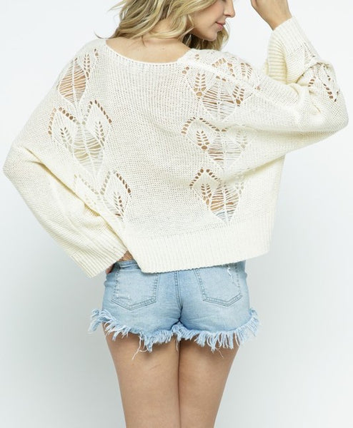 Knit Pullover with Heart Detail