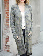 Load image into Gallery viewer, Camo Print Cardigan