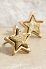 Load image into Gallery viewer, Druzy Star Shape Earrings