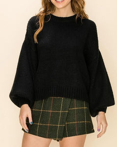 Lantern Sleeve Sweater