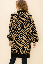 Load image into Gallery viewer, Zebra Bubble Sleeve Cardigan