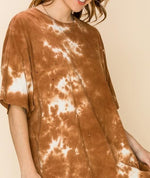 Load image into Gallery viewer, Tie Dye Distressed Oversized Tee