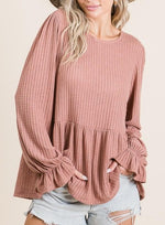 Load image into Gallery viewer, Knit Top with Ruffle Detail