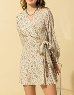 Load image into Gallery viewer, Side Wrap Long Sleeve Dress