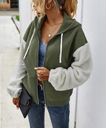 Load image into Gallery viewer, Color Block Zipped Hoodie