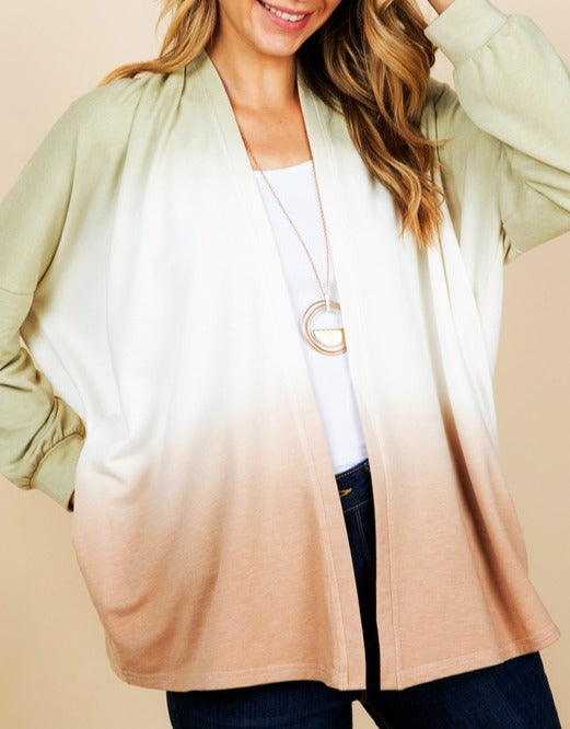 Tie Dye Cardigan with Pocket