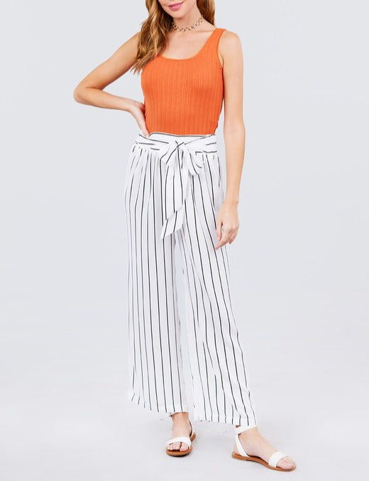 High Waist Stripe Pants