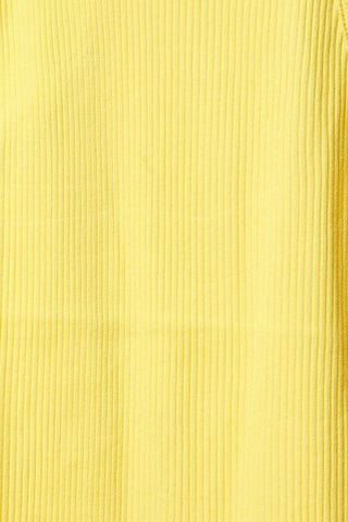 Ribbed High Neck Tank (Mustard)