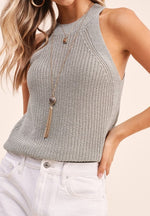 Load image into Gallery viewer, Knit Halter Tank