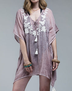 Flower Embroidered Cover-Up