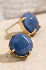 Load image into Gallery viewer, Natural Stone Stud Earrings