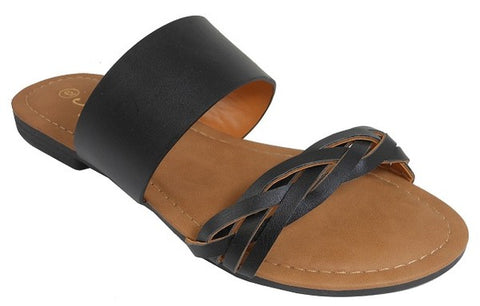 Braided Double Strap Sandal
