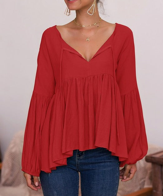 Flared Blouse
