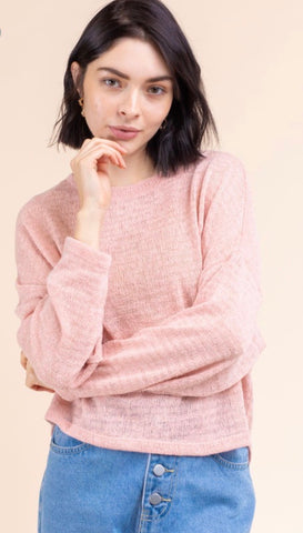Crew Neck Long Sleeve Knit Top