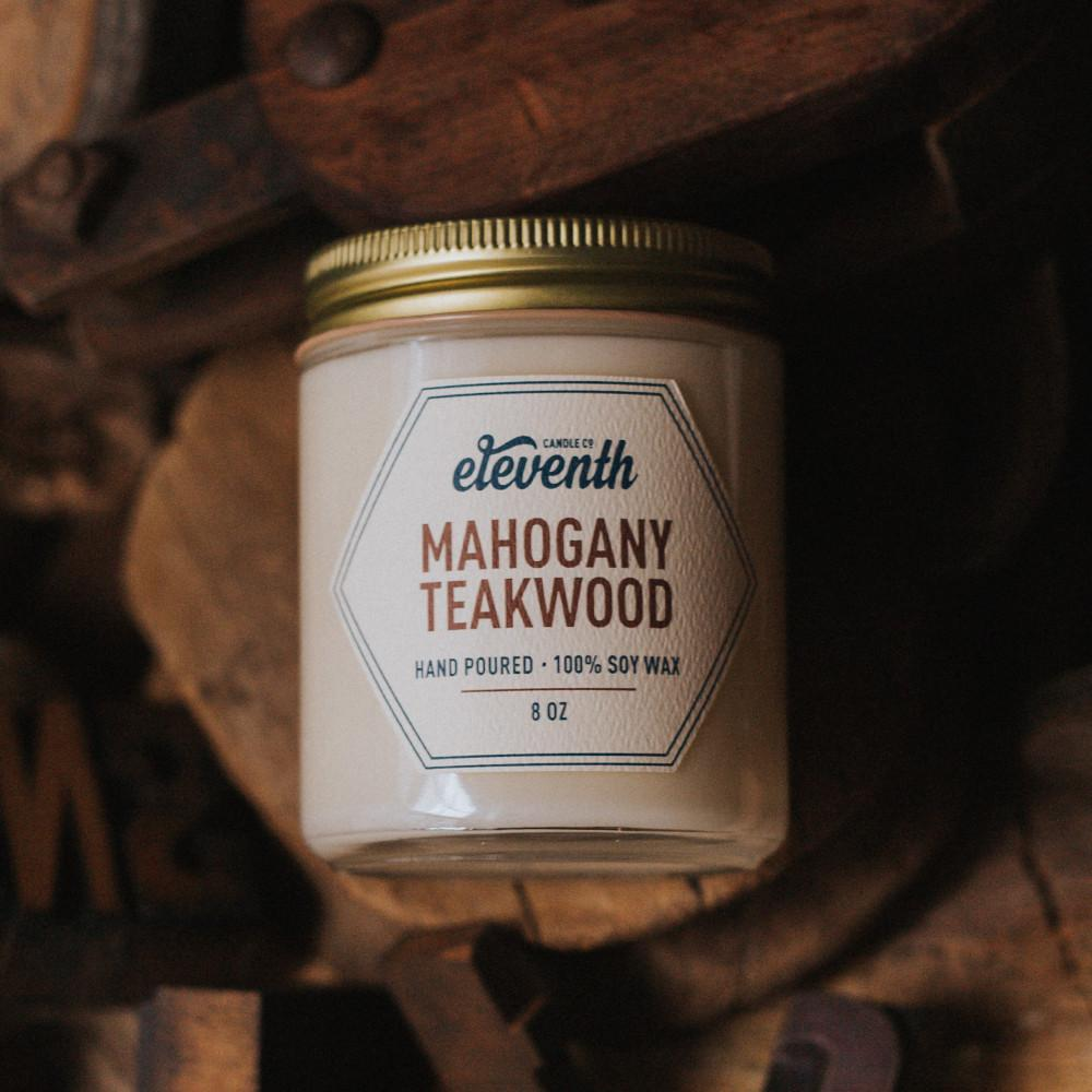 Mahogany Teakwood 8 oz Candle