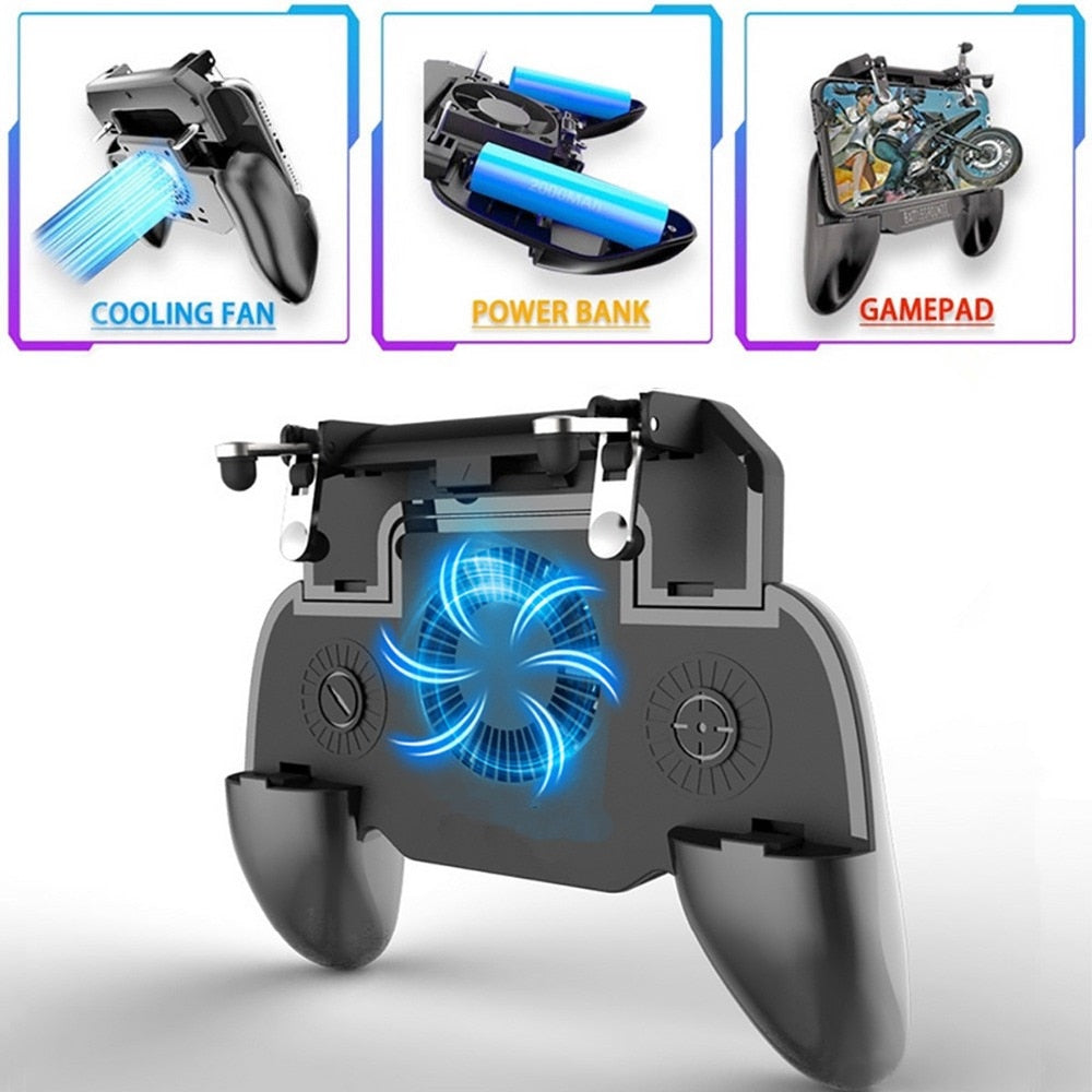 Mobile Gaming Controller + Built-in Fan & Powerbank