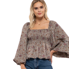 bold sleeved blouse