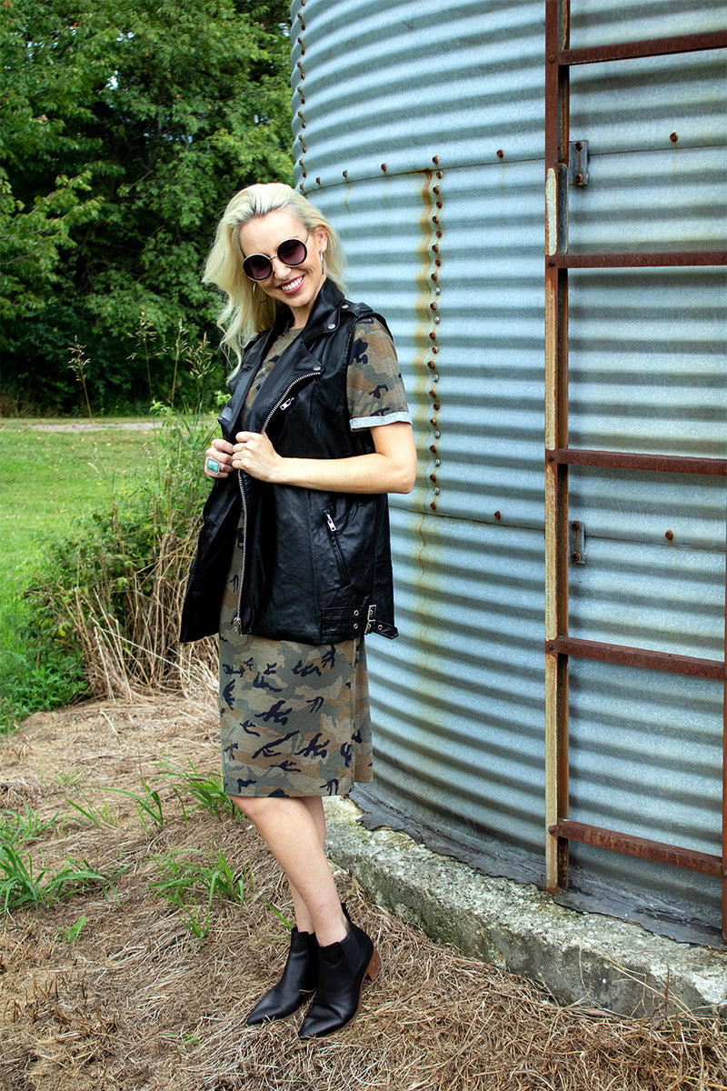 Major This Camo T-Shirt Dress
