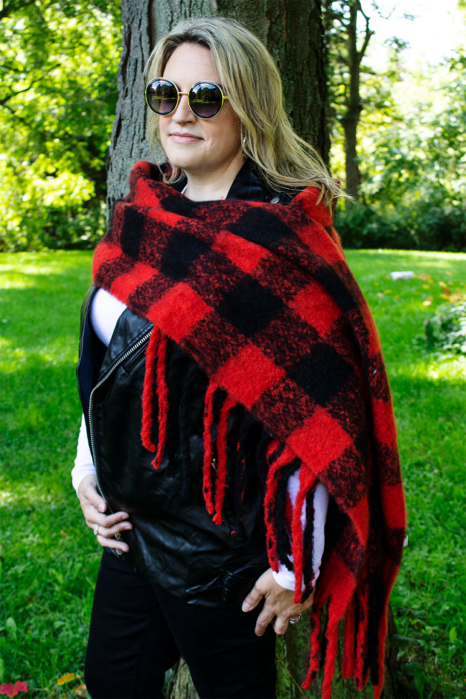 Canadiana Buffalo Check Blanket Scarf