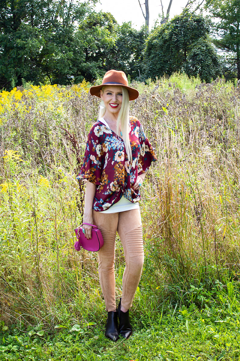 Pardon My French-Tucked Floral Top